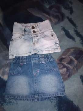 Pollera de jeans talle 2