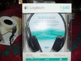 Auriculares Usb Logi H340 para Pc