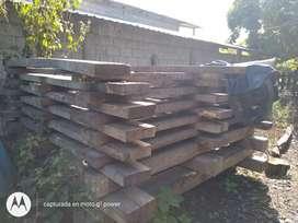 Tablones de madera caoba y amarillo seca