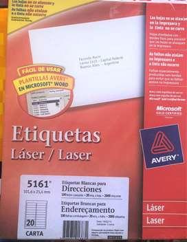 Etiqueta Avery 5161. 101,60x25,40 X 100 Hojas