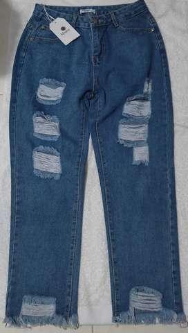 Jeans Boyfriend rígido talla 6