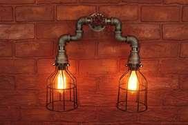 lampara doble bombillo EDISON