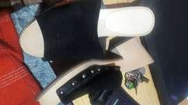 Vendo zapatos de tacon bajo talla 36 solo una puests