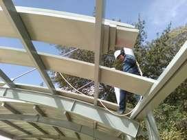 Instalaciones estructuras policarbonatos cubiertas