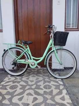Remató bicicleta de paseo estilo vintage aro 26 Jeff equipada con shimano original