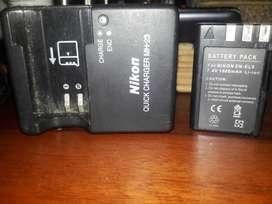 Cargador Y Batería de Cámara Nikon
