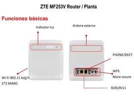 Router Modem ZTE Mf 253V 4g LTE no para Claro