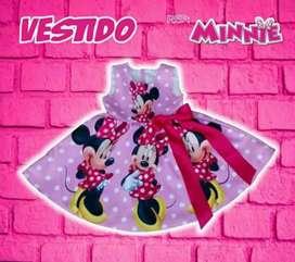 Hermoso Vestido Personalizado Minnie
