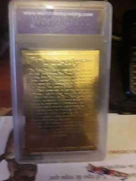 Placa De Oro Conmemorativa