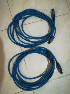 Cable con conectores neutrik speakon
