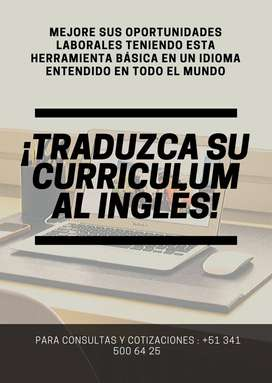 TRADUCCION DE CVS AL INGLÉS