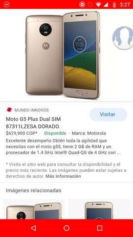 Vendo o cambio Motorola g5 con 32 GB de memoria