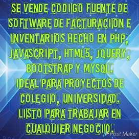Se vende los programas fuentes de un software de Facturación e Inventarios