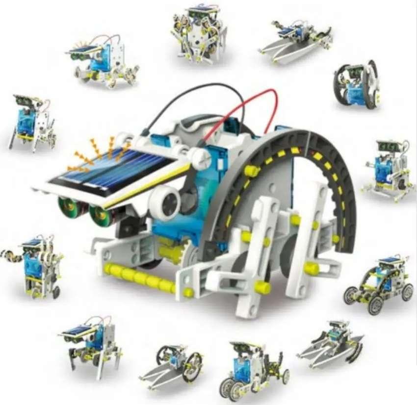 Kit 13 En 1 Motor Con Panel Solar Para Armar Educacional 0