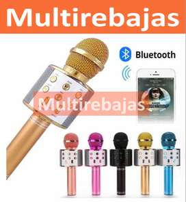Karaoke Inalámbrico Micrófono  Con Botones
