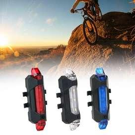 Luz Trasera para Bicicleta, Casco, Mochila etc.. USB Recargables.