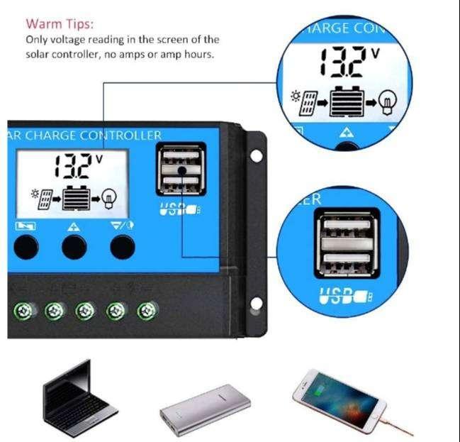 Controlador Regulador Carga Panel Solar 30 Amperios 12 V 0