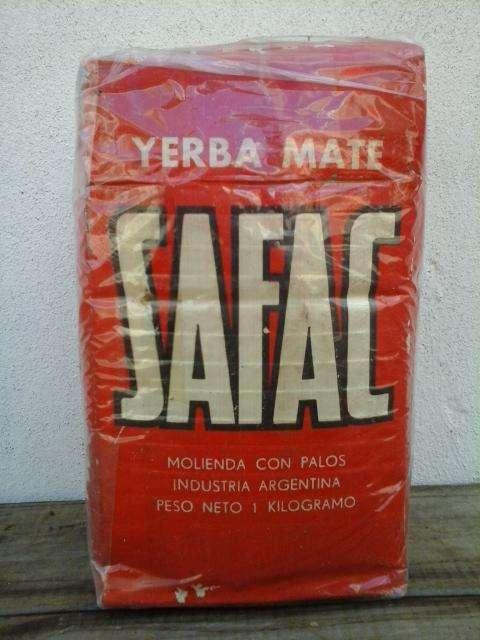 antiguo paquete yerba safac