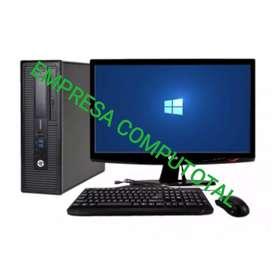 OFERTA PC HP CORE I5 DE 4 GENERACIÓN CON MONITOR 19 TECLADO MAUSO GARANTÍA 6 MESES