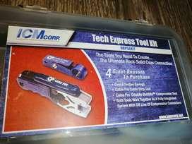 Kit de ponchador y pelador  de cable RG6 BELDEN.