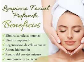Limpieza facial profunda y plasma rico en plaquetas