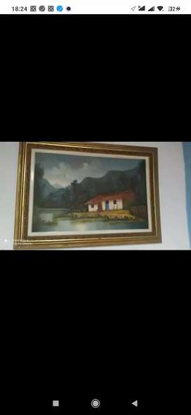 Cuadro oleo sobre lienzo paisaje
