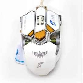 Mouse Gamer Mecánico Velocidad Ajustable Alta Precisión 3200