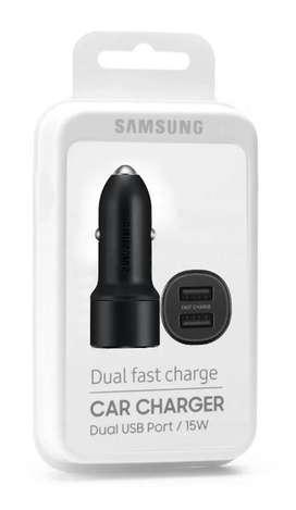 Cargador Dual Carro Samsung @ S10 S9 S8 Note 10 9 8