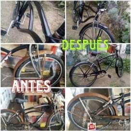 Reparaciones integrales de Bicicletas