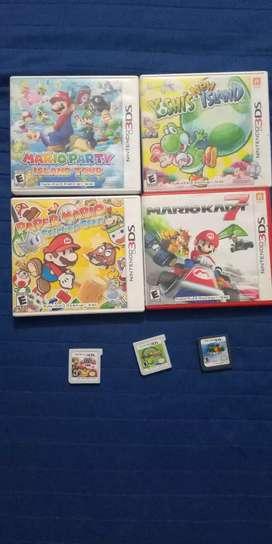 Colección de juegos de  Mario  nintendo 3ds y 2ds