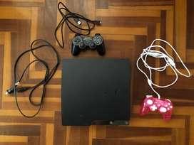 PlayStation 3 Slim con dos mandos