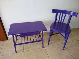Mesa y silla vintage