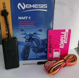 Con INSTALACION. GPS Nemesis para moto, controlado desde una aplicación. Garantía 1 año