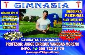 Servicio de clases de Gimnasia y defensa personal para niños y jóvenes
