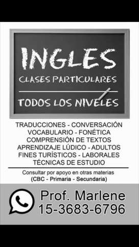 Clases de Inglés Todos los niveles