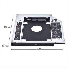 CADDY ADAPTADOR SEGUNDO DISCO DURO SATA SSD CD DVD 9.5 MM