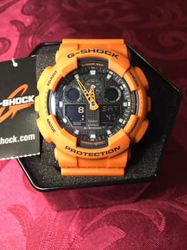 Casio g shock ga100 Orange black