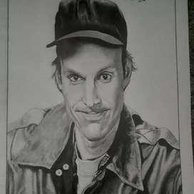 Vendo y hago dibujos con lápiz de grafito