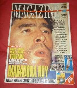 REVISTA MAGAZINE DEPORTIVO nro 3 ENERO 1992 MARADONA HOY . TAPA Y NOTA DE 6 PAGINAS