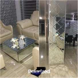 Mesas de Centro Espejos Decorativos Luz