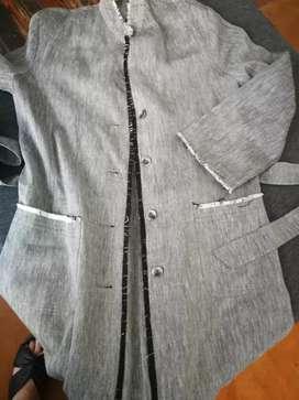 Saco lino paula ricci impecable medium