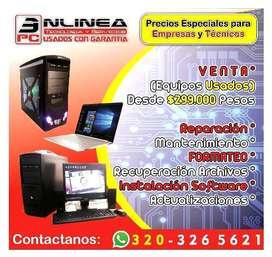 Servicio Técnico y Venta de Computadores...  USADOS CON GARANTIA