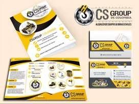 Combo Diseño de Logotipo - Tarjetas - Carpeta Corporativa