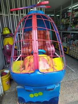 helicoptero de moneda infantil promocion