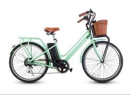 Bicicleta eléctrica marca CYCLA modelo RETRO (Nueva)