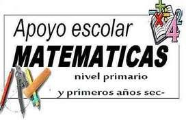 Particular de Matematicas, apoyo escolar - primario y secundario, Bernal