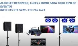 Alquiler de Sonido Luces, Microfonos Y H