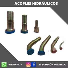 Acoples hidráulicos.