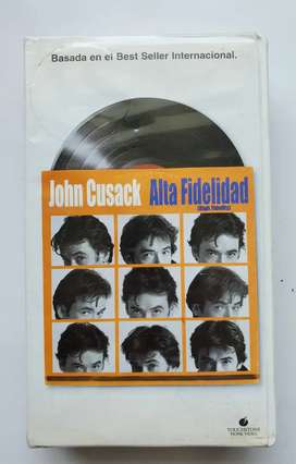 Vhs blockbuster original A alta fidelidad cassette John cusack CAJA ORIGINAL BLOCKBUSTER