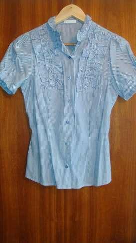 Camisa Entallada Rayada Manga Corta Ona Saez Usada Talle 2